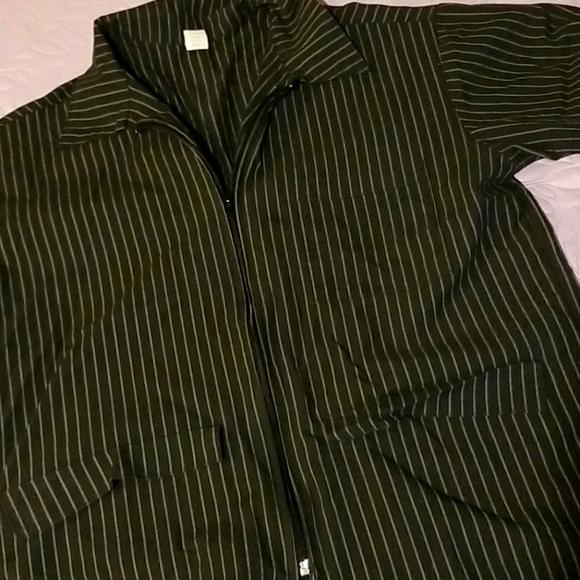 Pinstripe Barber Jacket